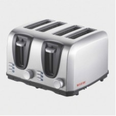 Stainless Steel 4 Slice Auto Toaster - Carton of 6 - $26.50/unit + GST