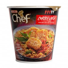 Chef Cup Curry Laksa Noodles - Carton of 8 - $1.50/Unit GST FREE