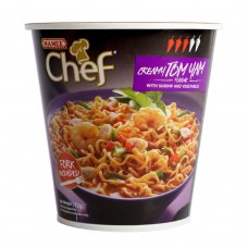 Chef Cup Tom Yum Noodles - Carton of 8 - $1.50/Unit GST FREE