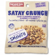 Harvest Box Satay Crunch 45g - Carton of 120 - $1.70/Unit + GST