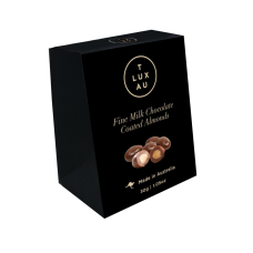 TLUXAU Chocolate Coated Almonds Small 30g - Carton of 6 - $3.40/unit + GST